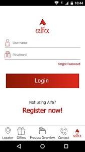 screenshot of αlfα version 2.3.0