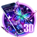 Download 3D Purple Butterfly Theme 1.1.15 APK