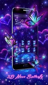 Download 3D Purple Butterfly Theme 1.1.14 APK