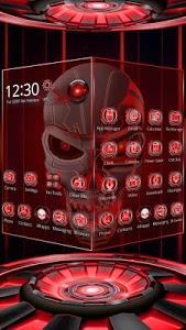 Download 3D Tech Blood Skull Theme 1.1.17 APK