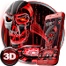 Download 3D Tech Blood Skull Theme 1.1.15 APK