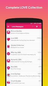 screenshot of Love Messages: SMS Collection & Stickers version 3.45