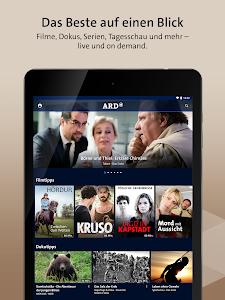 screenshot of ARD Mediathek version 7.4.4