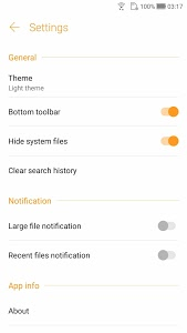 screenshot of File Manager version Varies with device