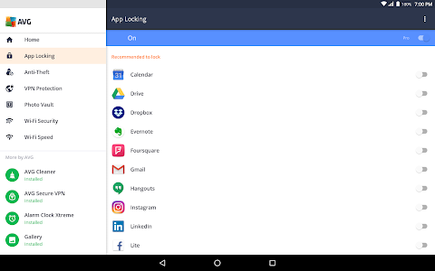 screenshot of AVG AntiVirus 2019 for Android Security version 6.15.1