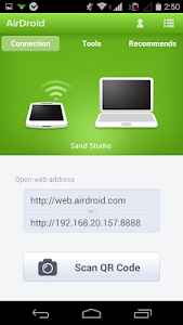 screenshot of AirDroid - Android on Computer version 2.1.0