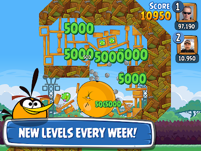 screenshot of Angry Birds Friends version 2.1.0