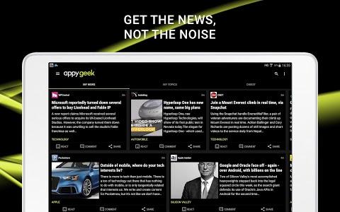 screenshot of Appy Geek – Tech news version 6.7.0