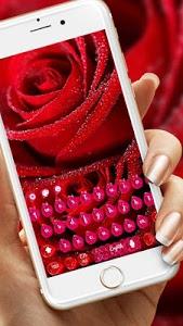 Download Beautiful Red Rose petals Keyboard 10001003 APK