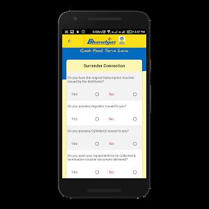 screenshot of Bharatgas version 2.2.3