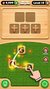 screenshot of Bible Word Puzzle version 2.1.1