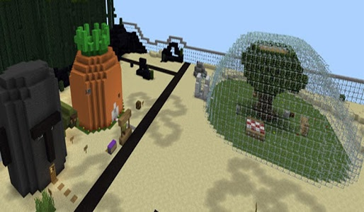 screenshot of Bikini Bash City Map MCPE version 2.6