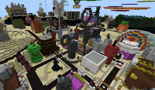 screenshot of Bikini Bash City Map MCPE version 1.0