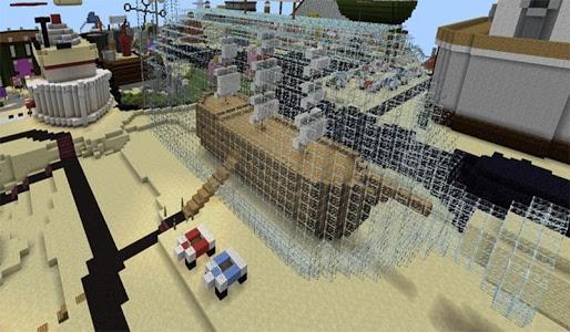 screenshot of Bikini Bash City Map MCPE version 1.5