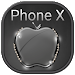 Download Black Crystal Apple for Phone X and OS 11 Theme 1.1.1 APK