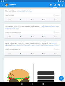 screenshot of Buffer: Social Media, Twitter version 5.5.11