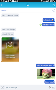 screenshot of Chatous version 3.9.85