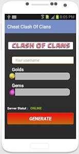 Download Cheat : Clash Of Clans prank 1.0 APK