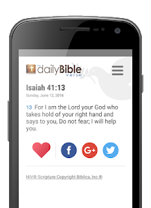 screenshot of Daily Bible Verse version Varies with device