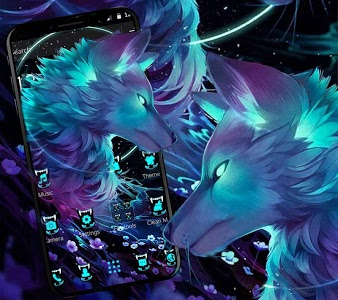 Download Dark Night Magic Wolf Theme 1.1.1 APK