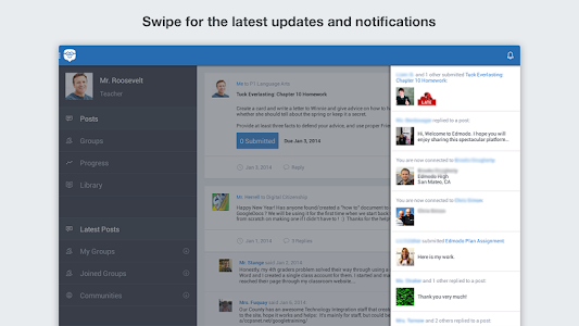 screenshot of Edmodo version 6.9.3