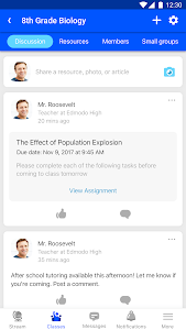 screenshot of Edmodo version 9.0.3
