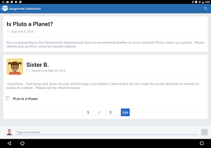 screenshot of Edmodo version 6.9.6
