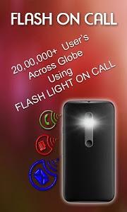 screenshot of Flash Light on Call & SMS version 1.1.8