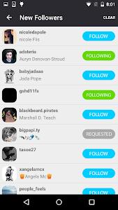 screenshot of Followers for Instagram version 1.6.4