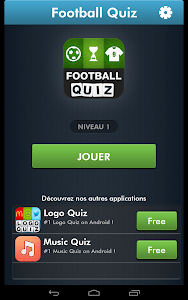 screenshot of Football Quiz version 1.1