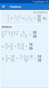 Download Fraction Calculator - solution for math problems 2.0.1 APK