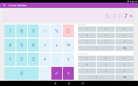 Download Fraction calculator: easy solve fractions problems 2.0 APK