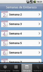 screenshot of Old Pregnancy Gestogram version 1.1.7
