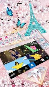 Download Girly Paris Keyboard - Girly theme 10.0 APK