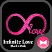Download Glitter Wallpaper Infinite Love Black x Pink Theme 1.0.0 APK