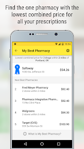 screenshot of GoodRx Drug Prices and Coupons version 5.4.3