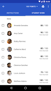 screenshot of Google Classroom version Varies with device