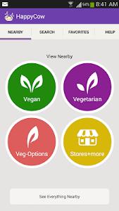 screenshot of Find Vegan Restaurants & Vegetarian Food- HappyCow version Varies with device