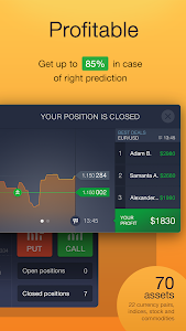 screenshot of IQ Option - Binary Options version 2.3.5