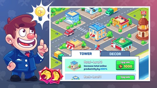 screenshot of Idle Prison Tycoon: Gold Miner Clicker Game version 1.2.7
