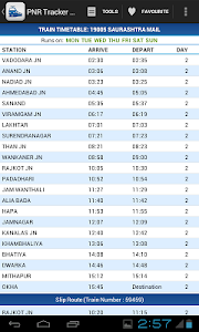 screenshot of Indian Rail Guide version 2.32