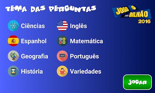 screenshot of Jogo do Bilhão 2016 version 2.2.0