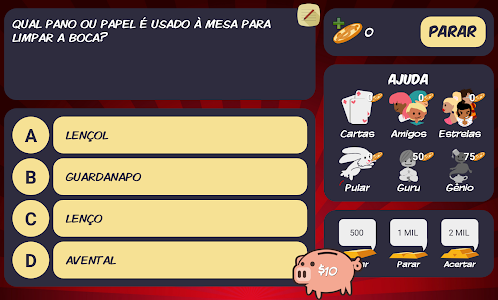 screenshot of Jogo do Bilhão 2019 version 3.1.7