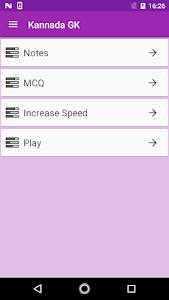 screenshot of Kannada GK 2018-19 version 1.1