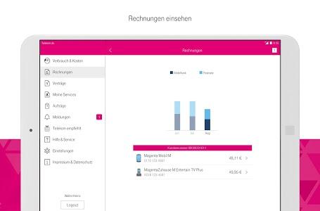 screenshot of MagentaSERVICE version 7.4.1