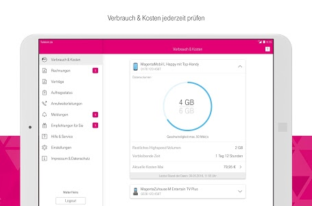 screenshot of MagentaSERVICE version 6.2