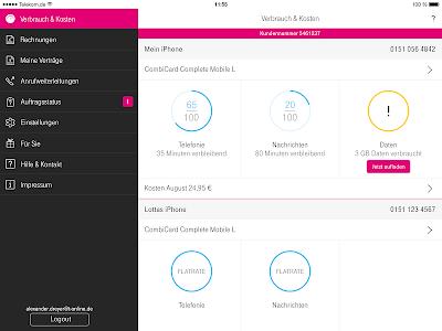 screenshot of Kundencenter version 5.0