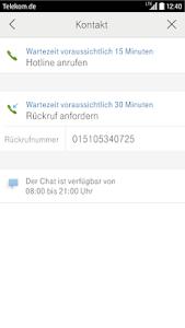 screenshot of Kundencenter version 5.3.7