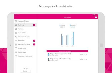 screenshot of MagentaSERVICE version 6.0.2