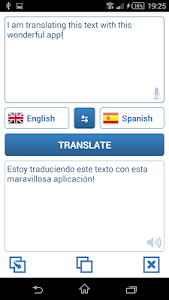 screenshot of Language Translator version 1.5